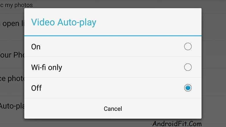 Take autoplay video control in your news feed. - AndroidFit.Com