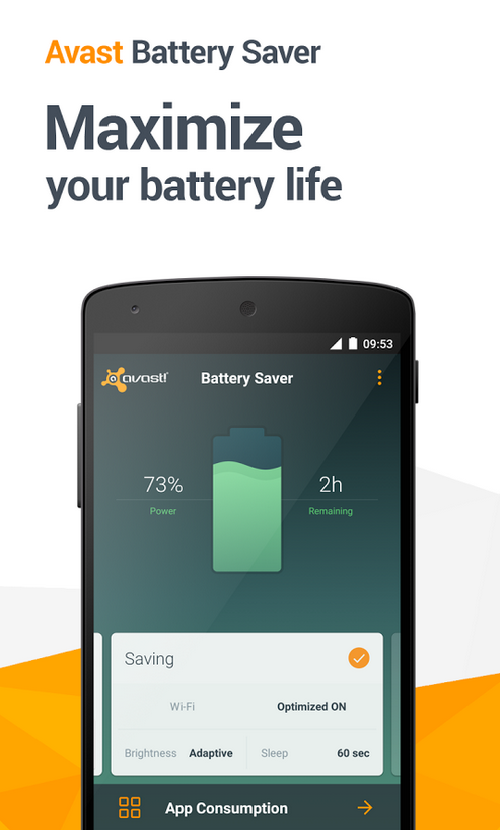 AVAST BATTERY SAVER  – Extends your Android battery life 5