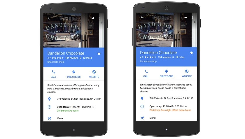 Now display holiday hours On Google Maps and Search 1