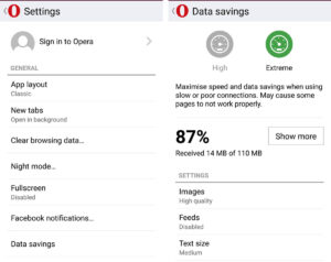 opera-mini browser save data
