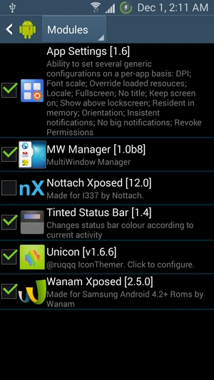 Xposed-Modules-1 -- How to Make Status bar Transparent & Change on Android