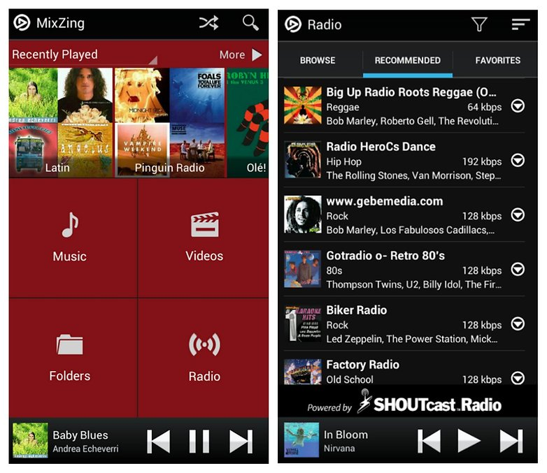 mixzing music player app for android
