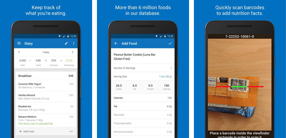 myfitnesspal- Weight Loss Apps for Android
