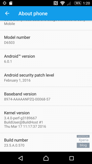 Marshmallow Firmware on Xperia Z2, Z3 and Z3 Compact