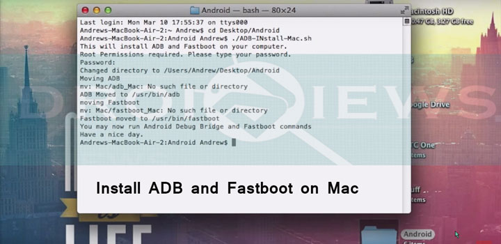 How to Install ADB and Fastboot on Mac 3