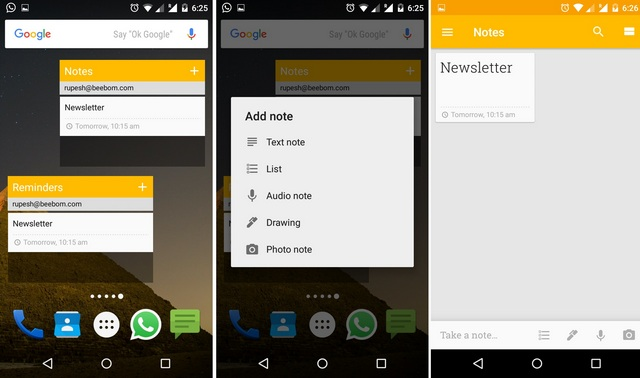Google-Keep-Widget