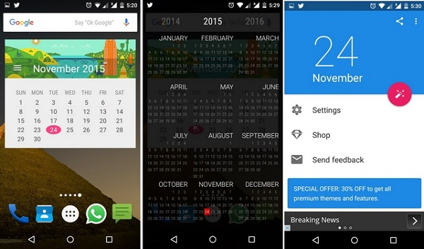 Month-Calendar-Widget-Android