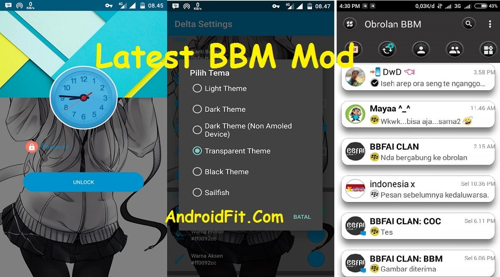 BBM Mod APK – Transparent clone & Delta Mod with Latest Version 20